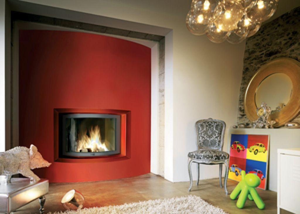 atry home chemin es et po les 06 installation de foyer ferm avec vitre arrondie pour chemin e. Black Bedroom Furniture Sets. Home Design Ideas